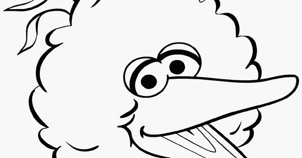 Big Bird Birthday Coloring Pages