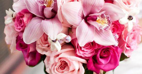 brautstrau mit rosen und orchideen bridal bouquet with roses and orchids hochzeit. Black Bedroom Furniture Sets. Home Design Ideas