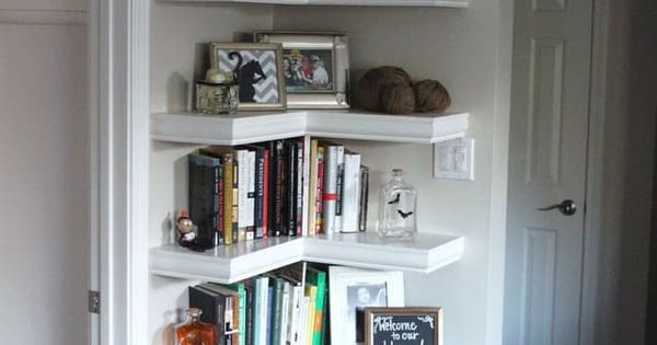 Corner shelves a smart small space solution all over the house corner shelf and shelves - Small space shelves concept ...