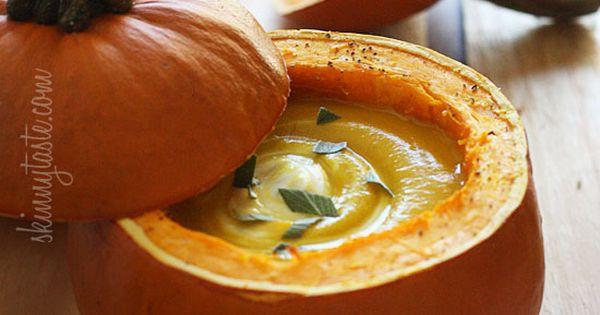Roasted Pumpkin Sage Soup - Pumpkin season is in full swing, and