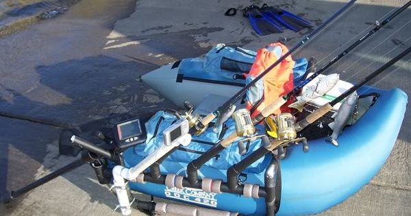 Pvc float tube rod holder fish finder and camera mount for Float tube fish finder