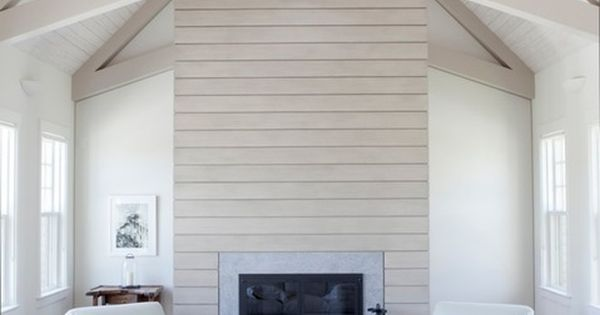 Tongue And Groove Wood Planked Fireplace Wall Fab
