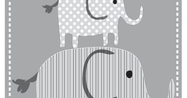 Elephant Print - Nursery or Toddler Room Decor - Personalized Elephant Print