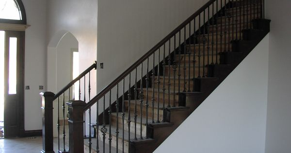 Best Stair Railing Bing Images Wood Stairs With Carpet In The 640 x 480