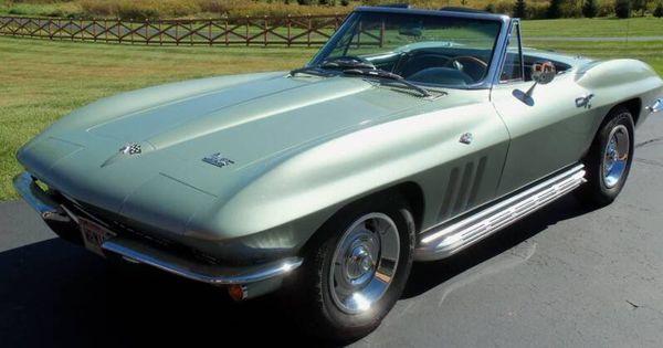 1966 Mosport Green Corvette - 2,311 units   Mint Green ...