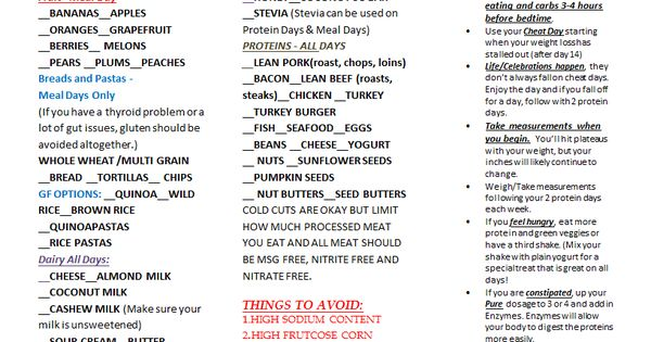 Grocery List.docx   Yoli   Pinterest   Food, Meals and Low ...