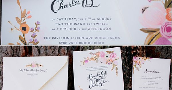 gorg wedding invites by @Anna Totten Bond via @Judy Clark chicks RIFLE