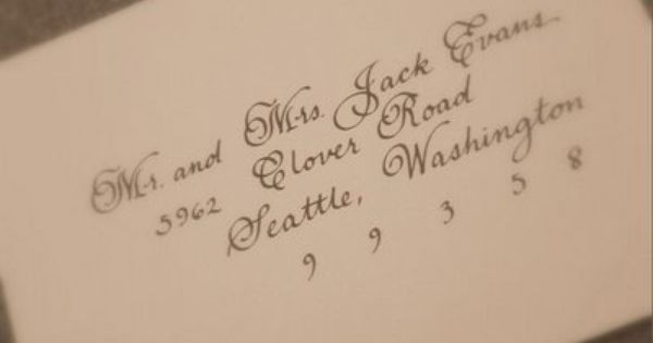 Wedding Envelope Addressing Etiquette For Outer Envelope Only Invitations.  Like The Font Too.