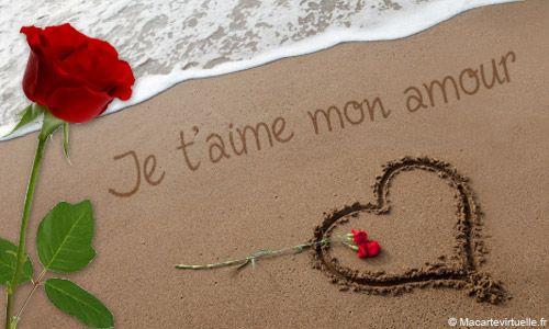 Carte Je Taime Mon Amour Je Taime Mon Amour Belle