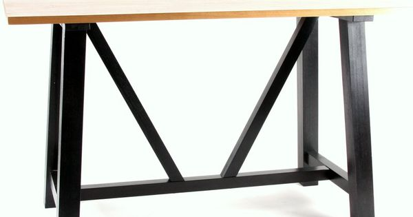 idaho solid oak bar leaner natural top black leg  : bd03219d4006bd6f5cf8367bfdc9f051 from www.pinterest.com size 600 x 315 jpeg 18kB
