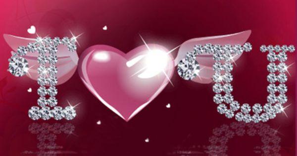 I love you heart glitter love glitter shiny i love - Y k love wallpaper ...
