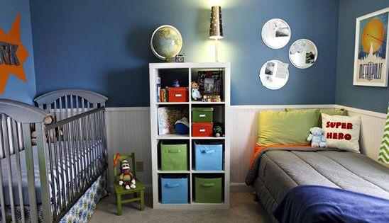 Habitaciones Compartidas Por Bebé Y Hermano Mayor Decoración Bebes Decorar Habitacion Niños Habitaciones Compartidas Habitación De Niños Compartida