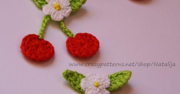 Applikation kirsche h keln deko h keln crochet baby for Kirsche deko