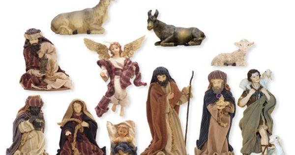 Figurki Do Szopki W Ubraniu 13cm 11 Czesci K113 7075919611 Oficjalne Archiwum Allegro Bookends Decor