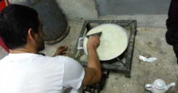 عمل خبز تاوه محلي بحريني How To Make Arabian Sweet Bread
