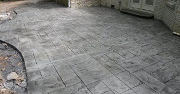 Stamped Concrete Patio Large Ashlar Slate Concrete Patio Designs Stamped Concrete Patio Concrete Patio