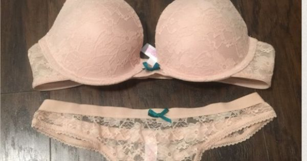 NWOT nude lace bra & panty set 34B/S   D, Lace and Target - photo#46