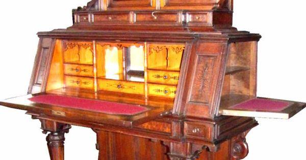 antique desk with hidden compartments | Secret Spaces | Pinterest