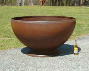 This Fire Pit Is 30 Inches In Diameter Heavy Fire Pit With 3 16 Inch Wall Thickness Will Not Rust Out Fo Outdoor Fire Pit Rustic Fire Pits Fire Pit Materials