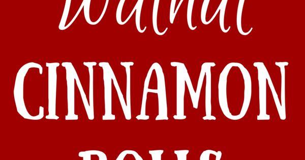 Apple Walnut Cinnamon Rolls by So Very Blessed. These cinnamon rolls ...