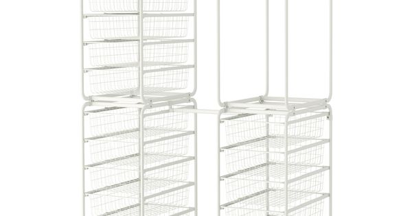 Algot frame w rod wire baskets top shelf ikea bedroom - Estanteria algot ikea ...