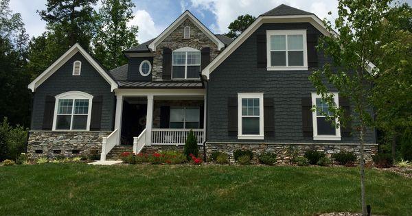 Exterior House Paint Color Combinations Grey Shutters