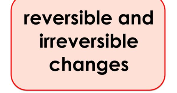Reversible And Irreversible Changes Science Keyword Activities