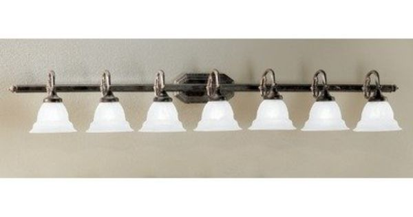 Colored Glass Vanity Light : Yorkshire 7 Light Bath Vanity Light Finish: English Bronze, Glass Color: Sandstone Glass by ...