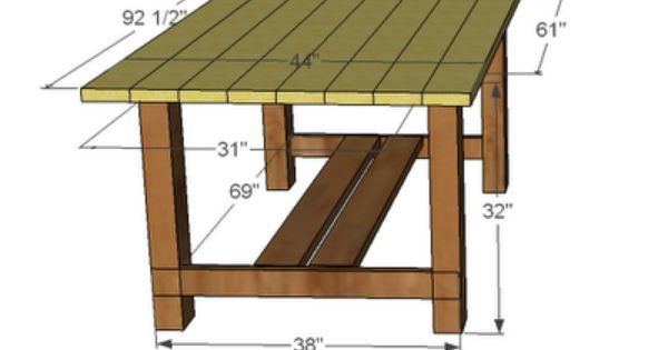 Diy outdoor farmhouse table farmhouse table plans for Farmhouse table plans with x legs