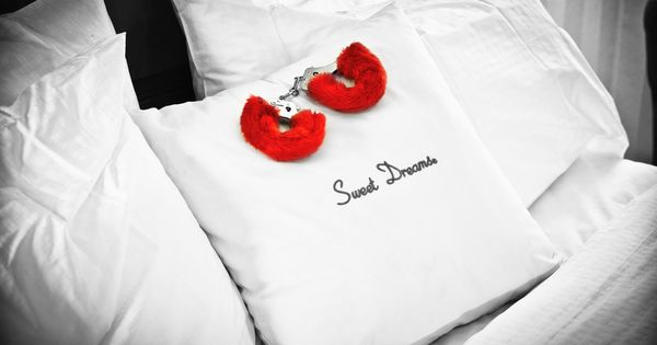 Red furry cuffs : CoLoR PoP : Pinterest : Colour splash