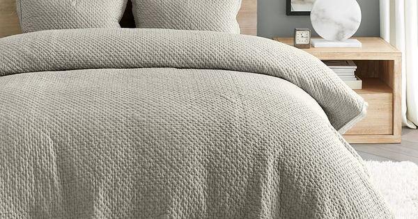 Melange Handcrafted Cotton Quilt Shams Quilted Sham Bedding Master Bedroom Quilted Coverlet