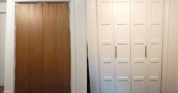 bedroom closet doors and a step by step chair recover Do It