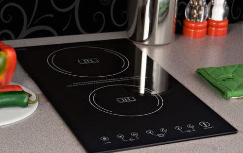 Summit Sinc2220 12 Inch Induction Cooktop With 2 Cooking Zones 8 Power Levels Automatic Pan Detect Tiny House Appliances Induction Cooktop Tiny House Kitchen