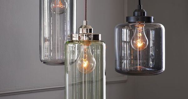 Glass Jar Pendants - modern - pendant lighting - West Elm