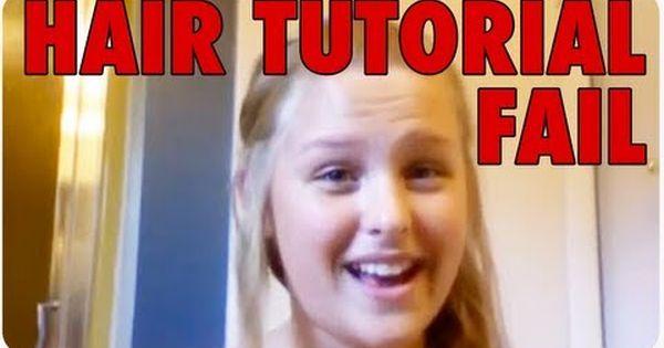 Girl Burns Hair With Curling Iron Webcam Hair Tutorial