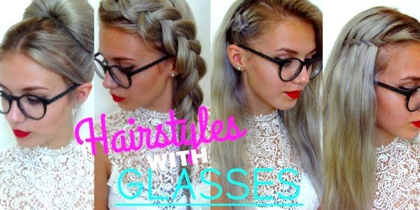 5 Awesome Easy Hairstyles For Girls With Glasses Hair Styles Hairstyles With Glasses People With Glasses