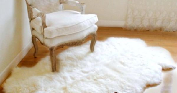 Amazoncom 5x7 Warm White Premium Faux Fur Area Rug