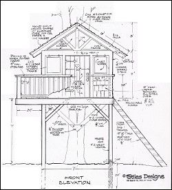 Treehouse Playhouse Design Custom Design Your Treehouse Or Playhouse Tree House Diy Tree House Plans Tree House Drawing