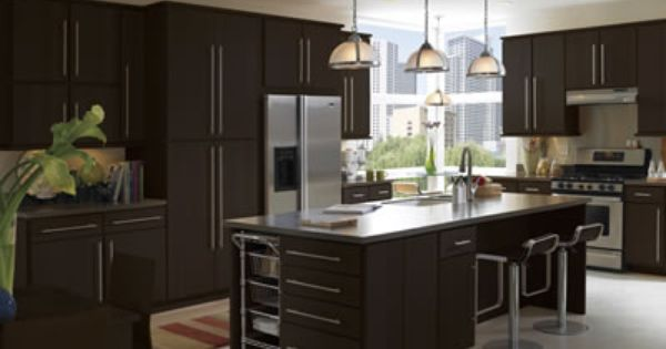 Best Moderno Flat Panel Maple Cabinets In Espresso By Armstrong 400 x 300