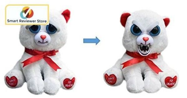 Feisty Pets Cute To Scary Stuffed Animal Plush Squeeze Toy Prank Truelove Bear Feistypets Plush Animals Baby Plush Toys Animal Plush Toys