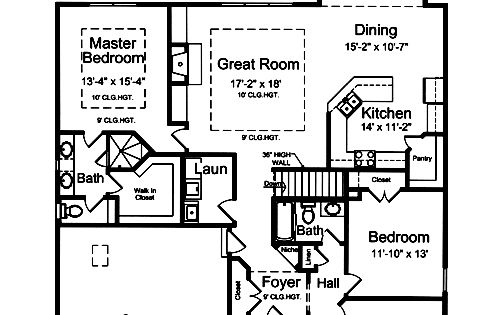 2000 Square Foot House Plans 2 5 Baths 4 Bedrooms Open