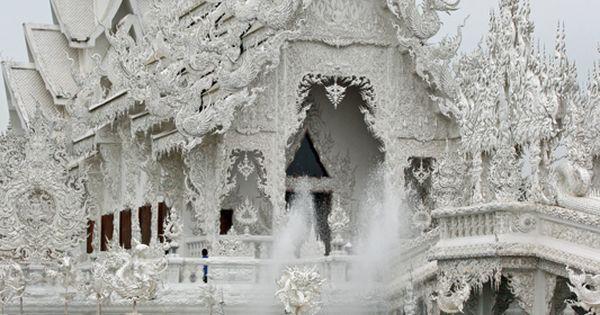 Wat Rong Khun (white temple) – Chiang Rai – Thailand. I have