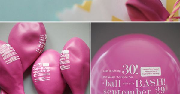 balloon party invitation, save the date (STD), etc. such a cute idea