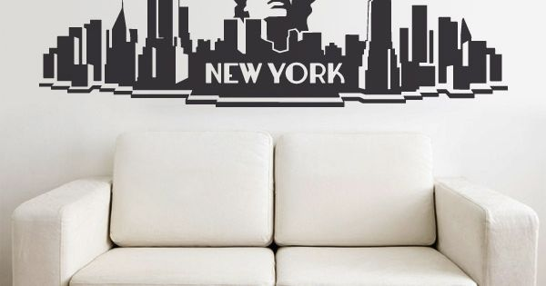 wandtattoos new york city bar deco pinterest uhren. Black Bedroom Furniture Sets. Home Design Ideas