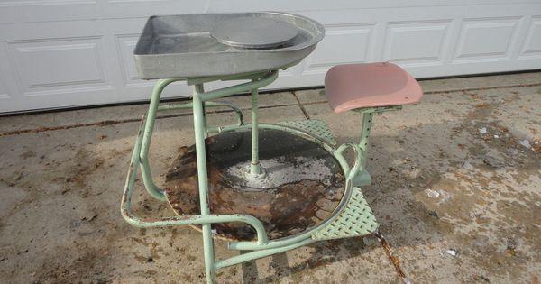 Amaco potters wheel kick wheel pottery wheel heavy duty for Repurpose ceiling fan motor