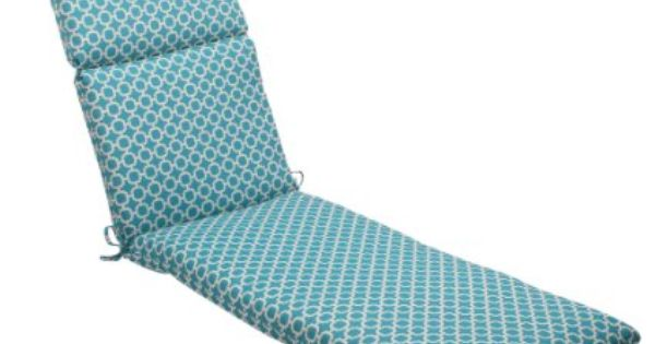 Pillow perfect indoor outdoor hockley chaise for Aqua chaise lounge cushions