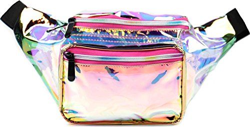 Felice Fashion Womens Waist Bag Galaxy Rave Fanny Pack