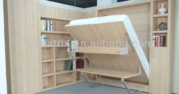 murphy lit bureau tirer vers le bas lit escamotable lit mural murphy beds pinterest lit. Black Bedroom Furniture Sets. Home Design Ideas