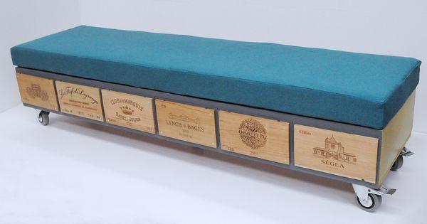 banquette mobile sur caisses de vin par atelier d 39 co solidaire r cup 39 cr ative pinterest. Black Bedroom Furniture Sets. Home Design Ideas
