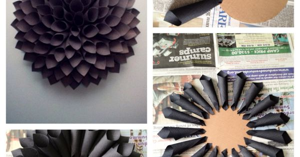 Paper Dahlia Wreath: another way to do a paper wreath. I want